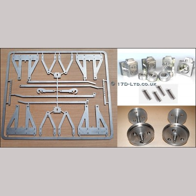 """7 1/4"""" g.  Comlete Wagon Chassis Parts Set"""