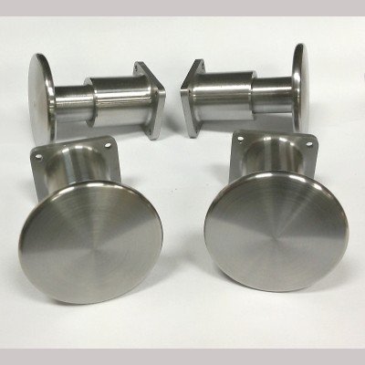 10¼ inch gauge: Standard CNC machined sprung wagon buffers