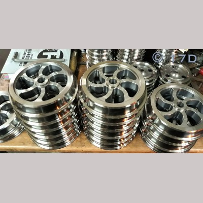 7¼ inch Narrow Gauge Fully Machined Curly Spoke Wheel