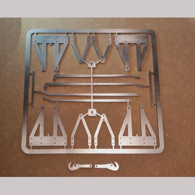 5 inch g. 2mm Laser Cut Wagon Chassis Parts Set