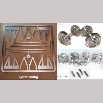 "5"" g. Complete Wagon Chassis Parts Set"