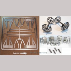 """5"""" g. Complete Wagon Chassis Parts Set - Spoked Wheels"""