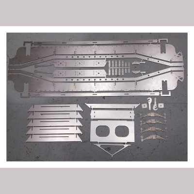 7¼ inch gauge: Loriot M Low Machine Wagon - set laser cut wagon parts