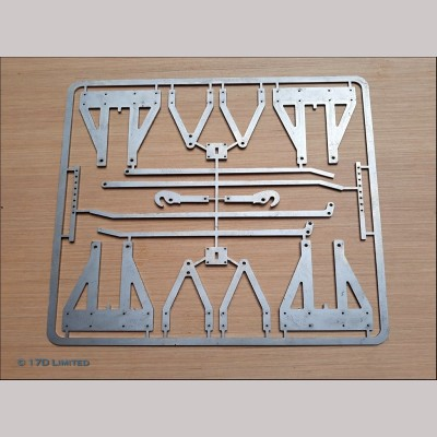 """7 1/4"""" g.  Laser Cut Wagon Chassis Parts Set"""