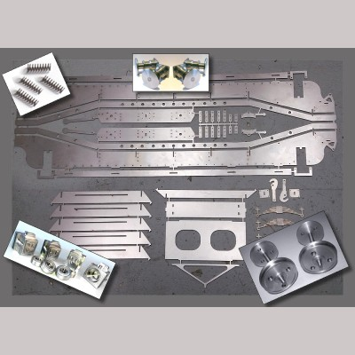 """7 1/4"""" g. GWR / BR Loriot M Low Machine Wagon - Complete Kit"""
