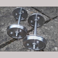 7¼ inch gauge: CNC turned 3 Hole Disc wheels on axles, Set of 4.