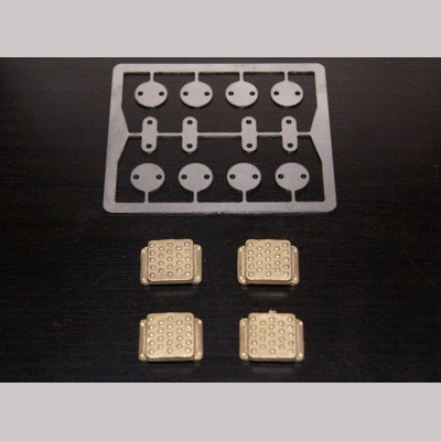 7¼ inch gauge: Step & Plate Detail kit for LMS / BR Locomotive Buffers